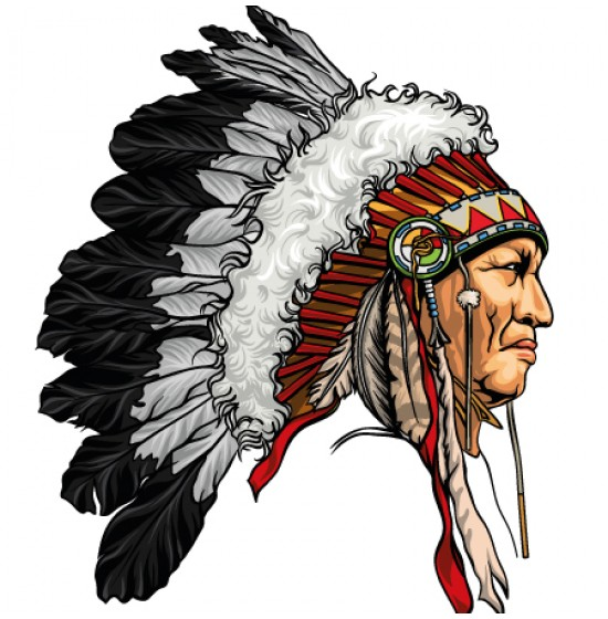 550x560 Native American Free Vector