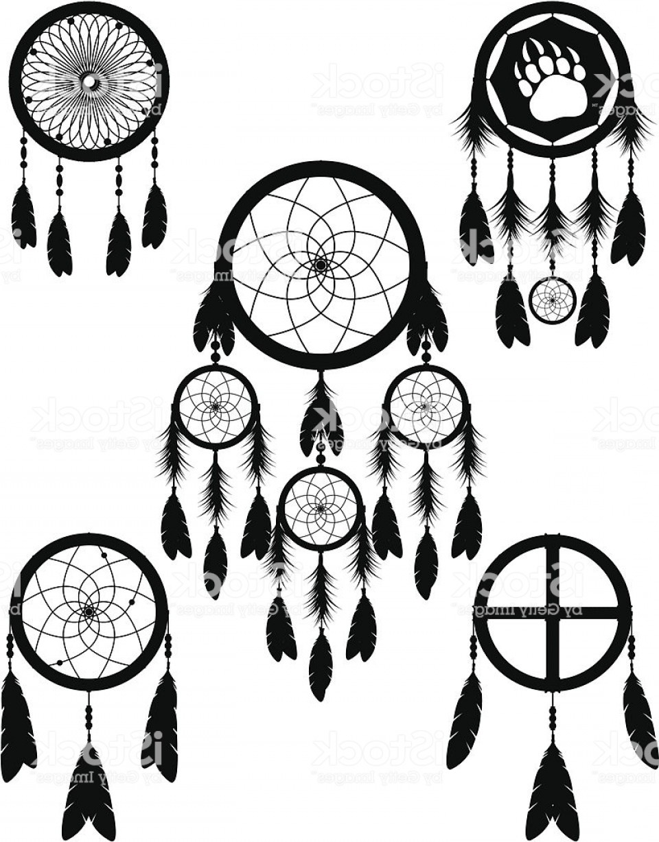 960x1228 Native American Indian Dream Catcher Vector Illustration