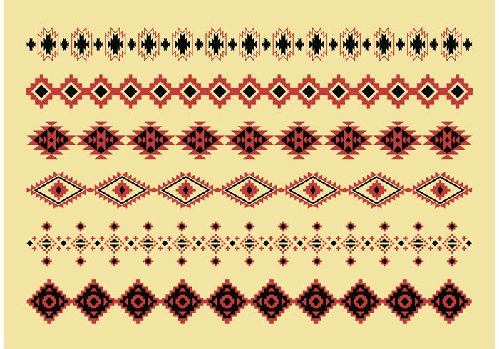 700x490 Native American Pattern Vectors
