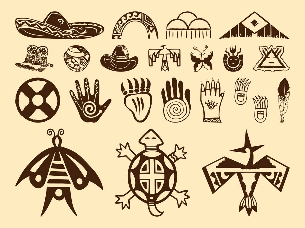 1024x765 Native American Symbols Vector Art Amp Graphics