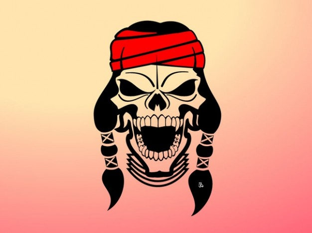626x467 Native American Head Band Skull Vector Vector Free Download