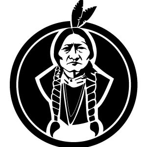 300x300 Sitting Bull American Native Vector
