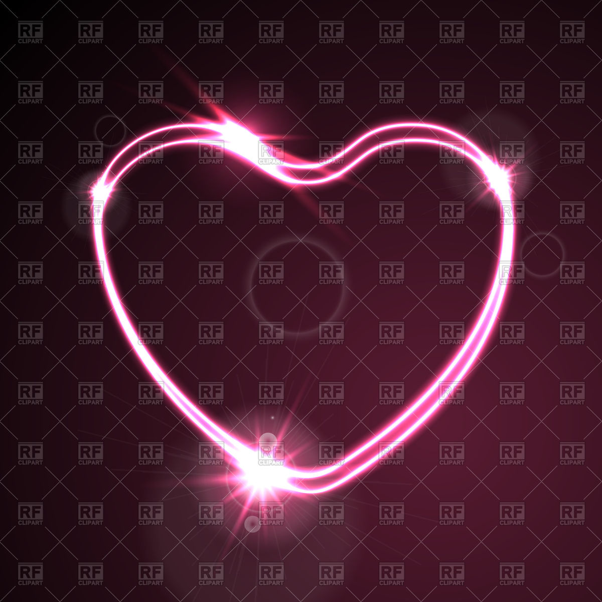1200x1200 Dark Pink Heart Glowing Neon Effect Background Vector Image