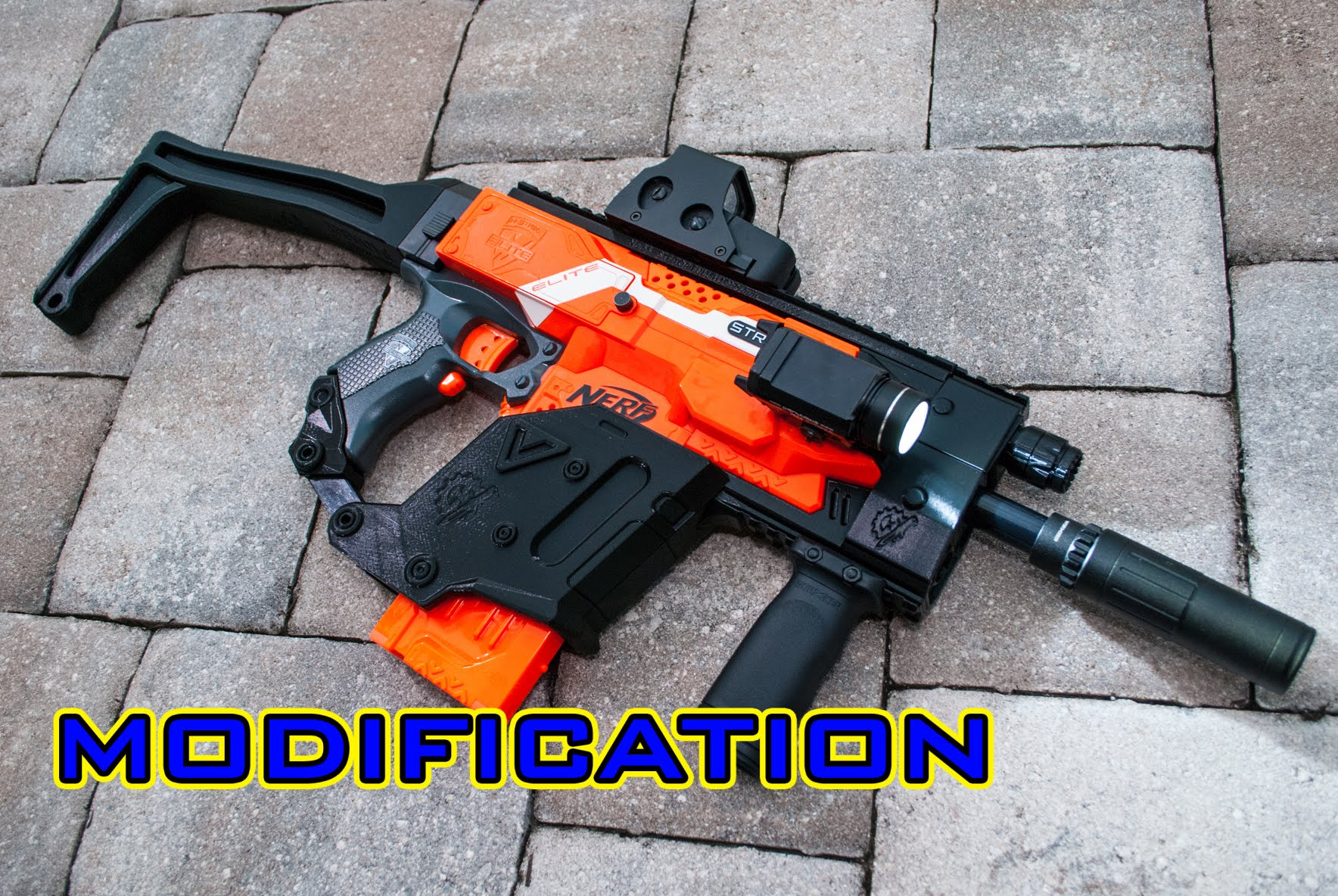 1768x1184 Mod] Nerf Stryfe Kriss Vector 3d Printed Kit!