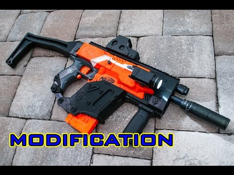 480x360 Mod] Nerf Stryfe Kriss Vector 3d Printed Kit!