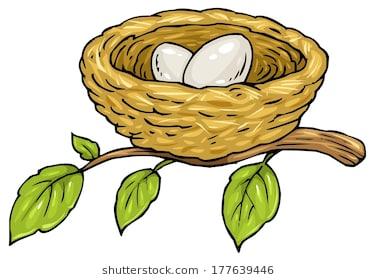 377x280 Highest Bird Nest Cartoon Vector Illustration Of Mother