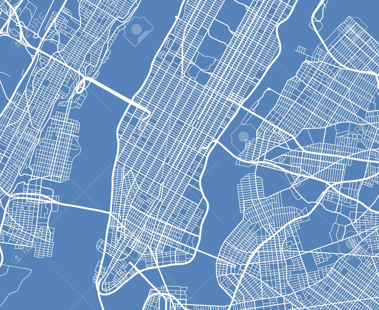 1300x1063 Free Nyc Street Map Aerial View Usa New York City Vector Street