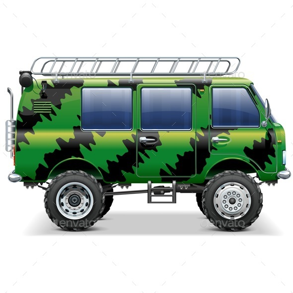 590x590 Vector Offroad Travel Car By Dashadima Graphicriver