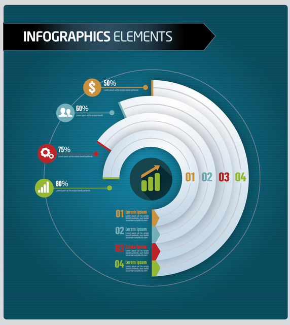 572x640 Free Vectors Business Infographics Level By Sector Vector Open