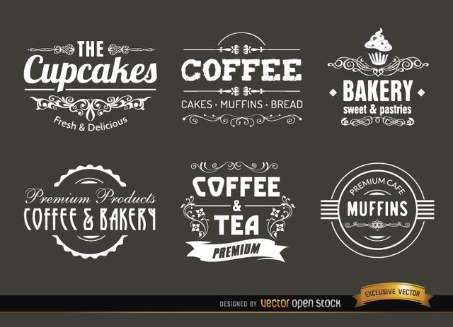 640x463 Free Vectors Coffee Vintage Labels And Badges Vector Open Stock
