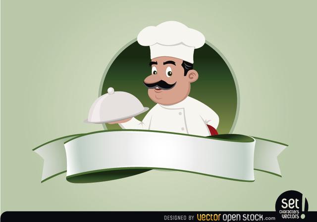 640x449 Free Vectors Restaurant Emblem With Chef Vector Open Stock