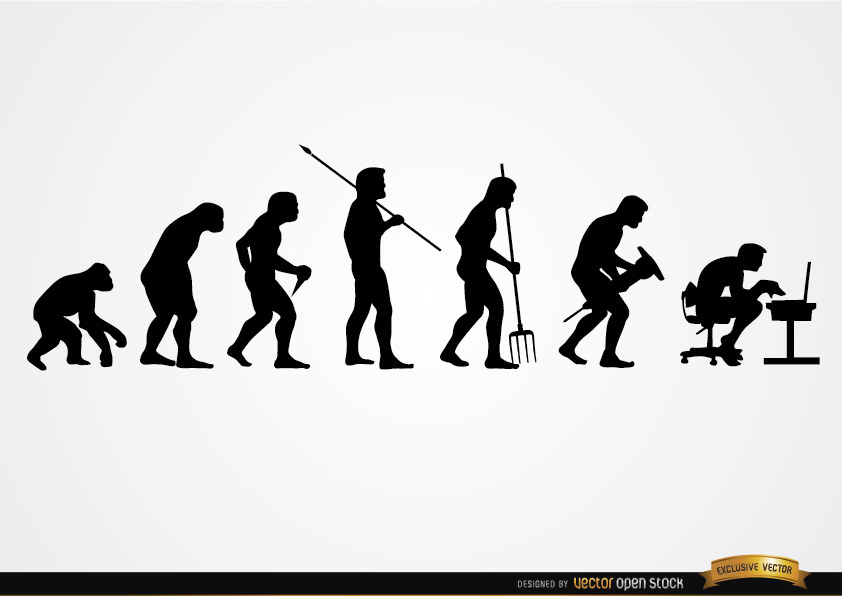 842x596 Human Work Evolution Silhouettes Download This Free