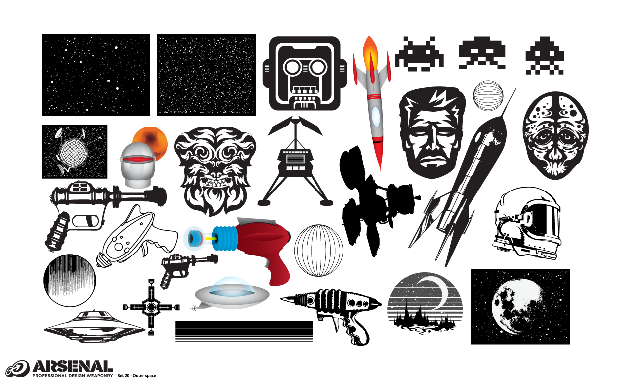1270x770 Outer Space Vector Pack