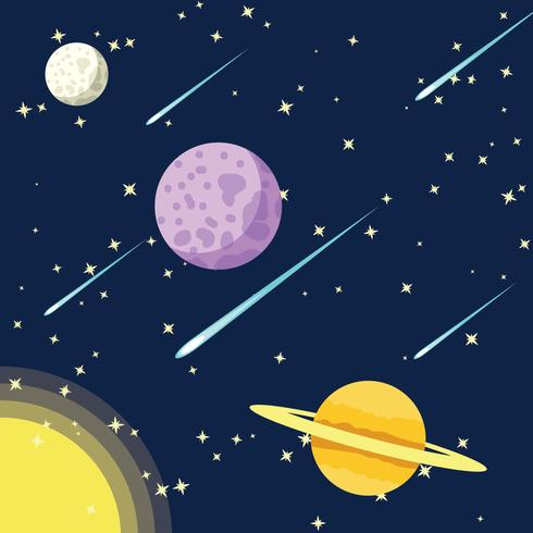 490x490 Outer Space With Star Dust Background Vector