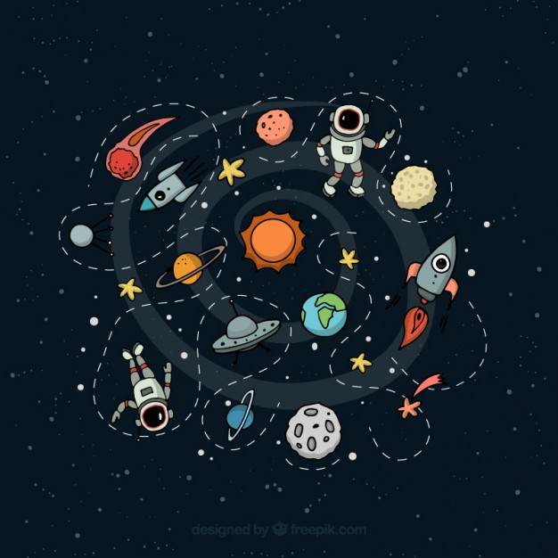 626x626 Outer Space Illustration Vector Free Download