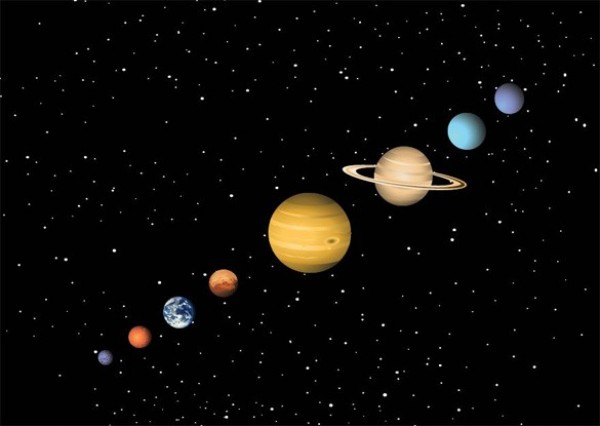 600x426 Realistic Outer Space Planets Vector Set