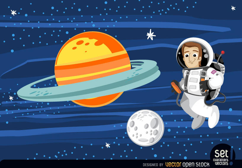 817x570 Astronaut Floating In Outer Space