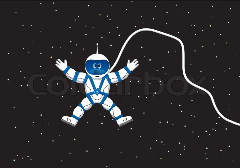 800x561 Astronaut In Outer Space Stock Vector Colourbox