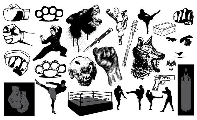 645x395 Fight Vector Pack For Adobe Illustrator