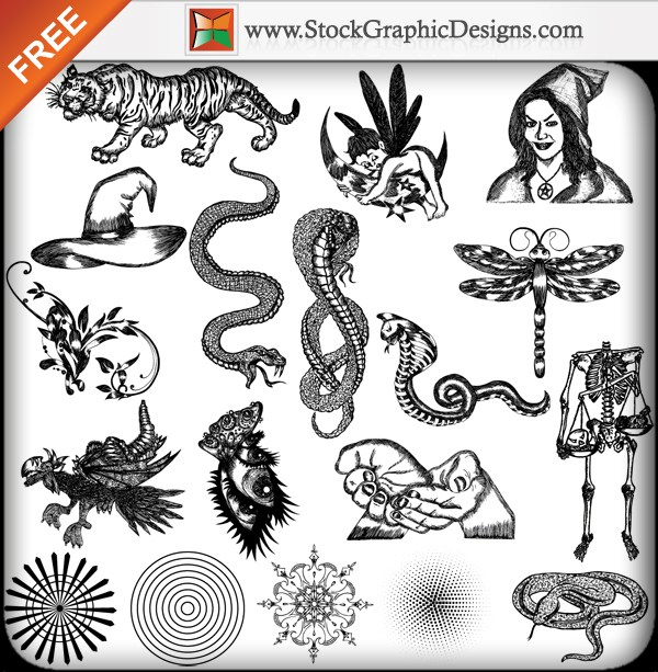 600x613 Free Vector Packs Vector Amp Photoshop Brushes Stock Graphic Designs