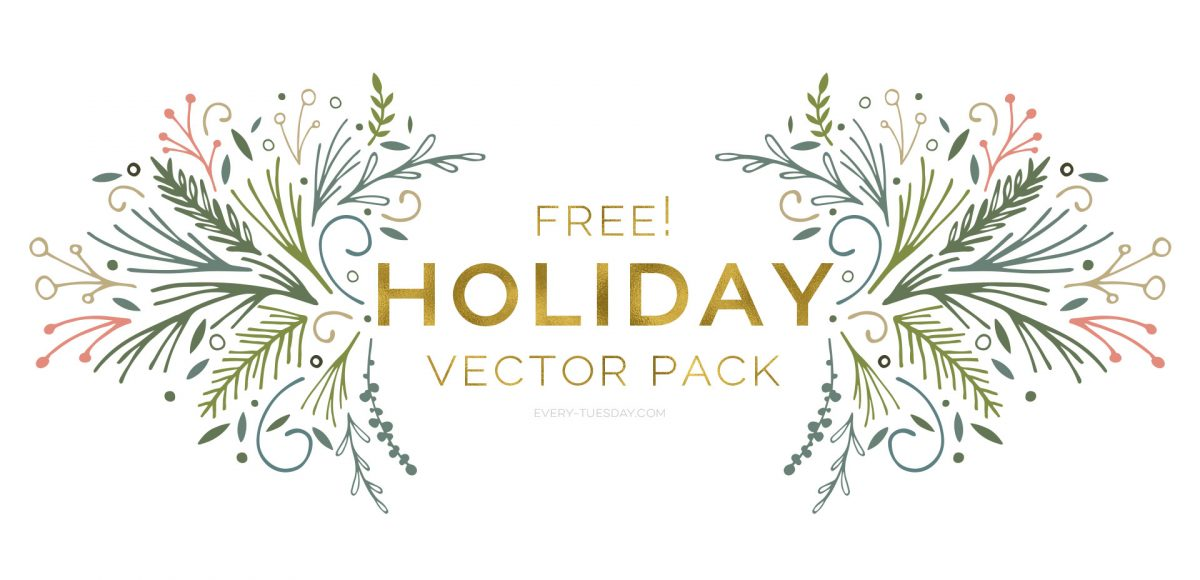 1200x580 Freebie Holiday Vector Pack