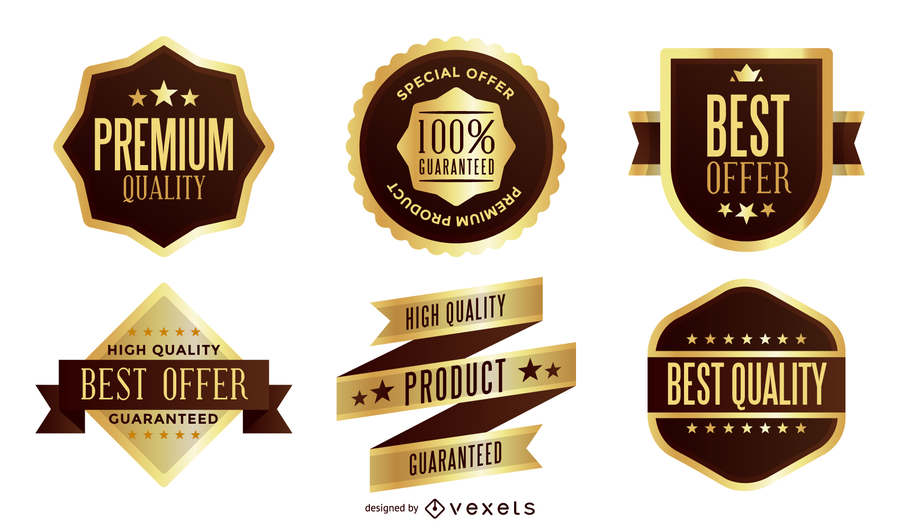 900x529 Gold Label Vector Pack