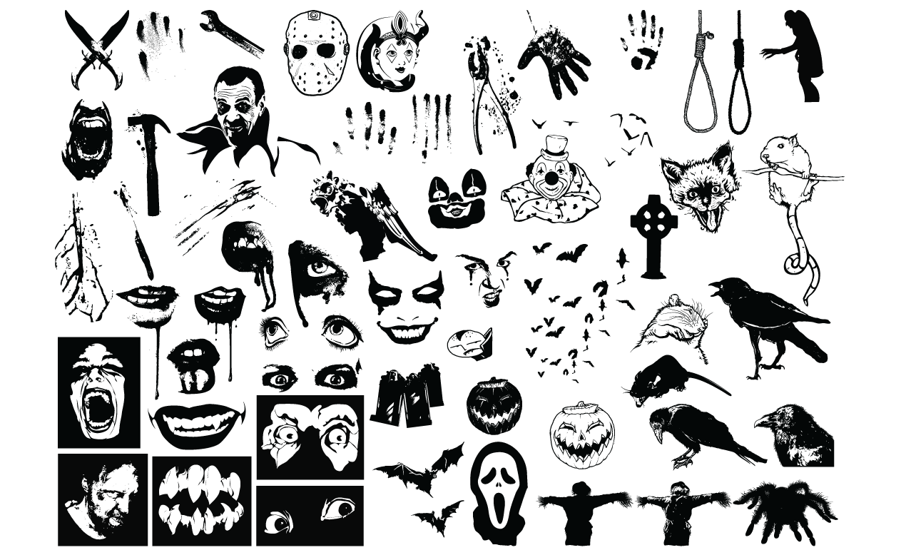 1270x778 Horror Vector Pack