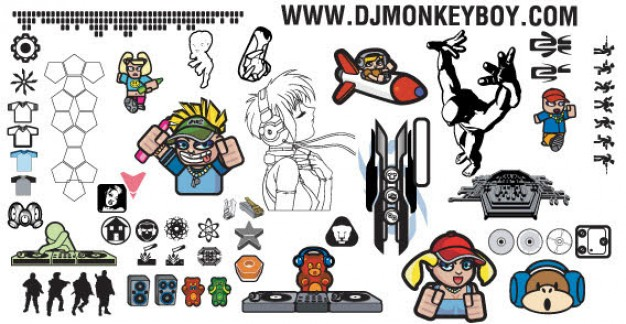 626x324 Mixed Elements Free Vector Pack Vector Free Download