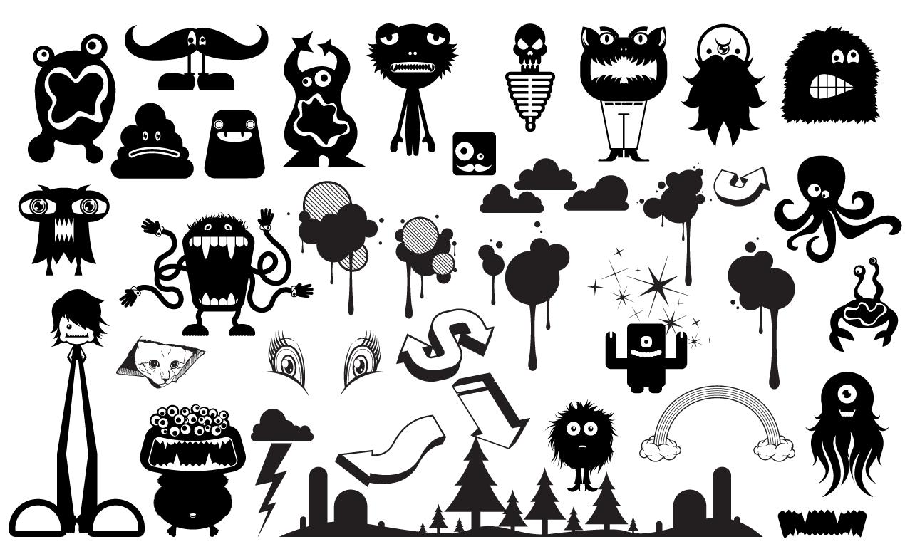 1270x778 Monster Vector Pack For Adobe Illustrator