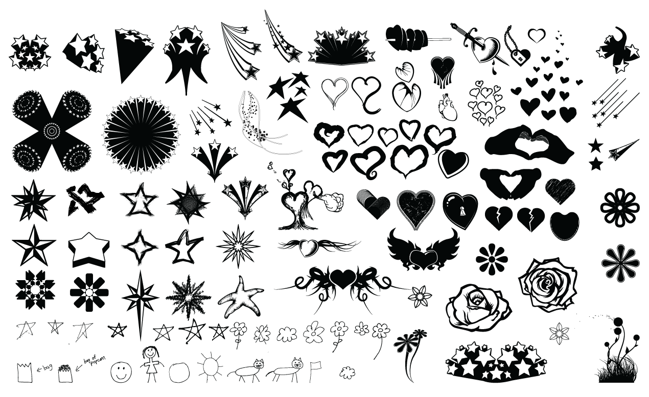 1270x778 Stars And Hearts Vector Pack