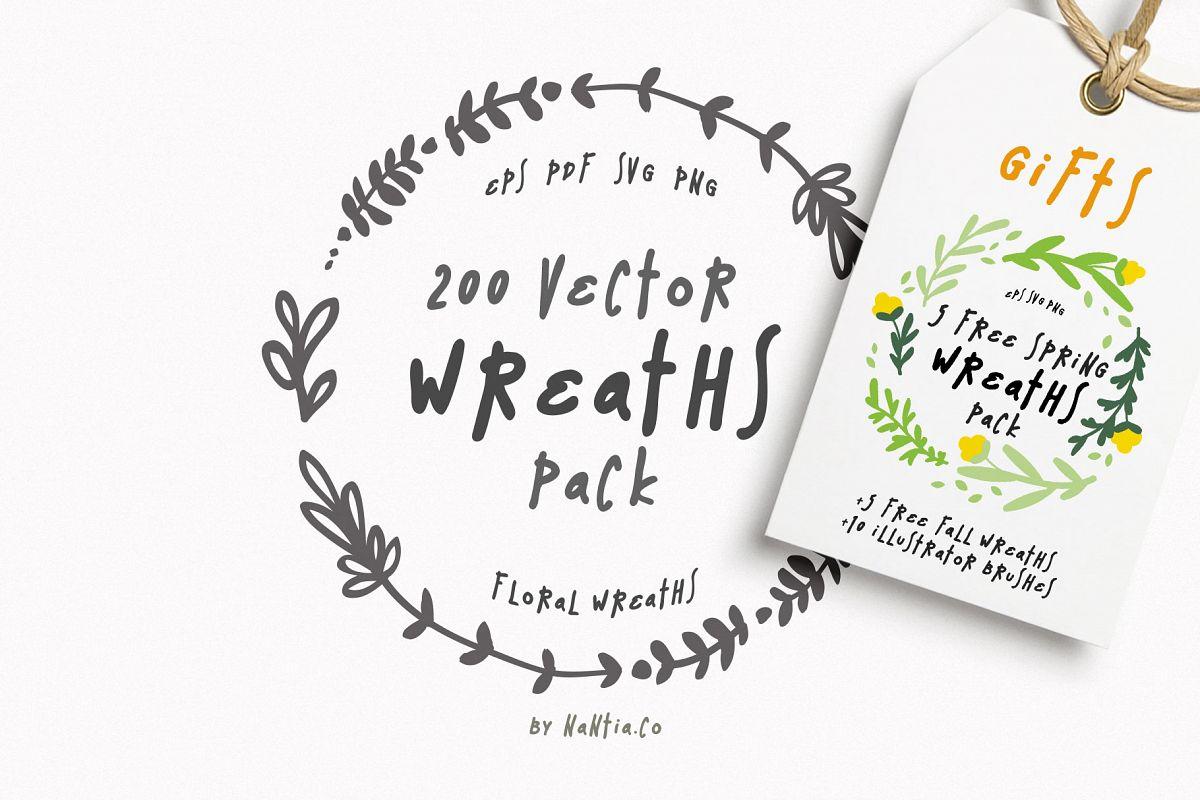 1200x800 200 Wreaths Vector Mega Pack