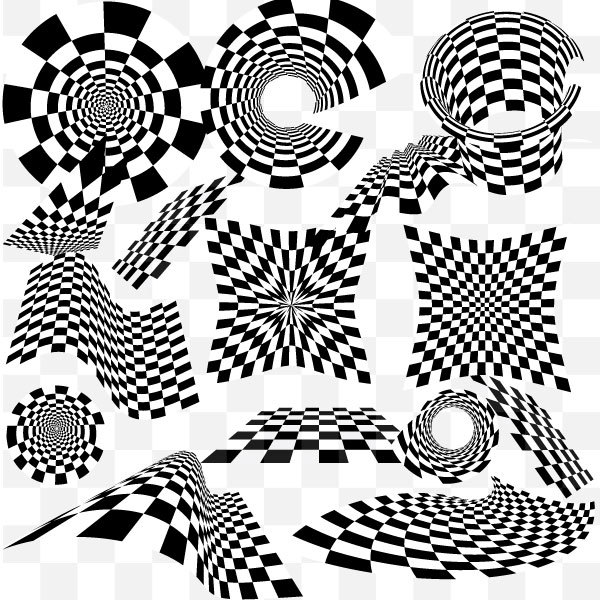 600x600 Checkered Vector Pack