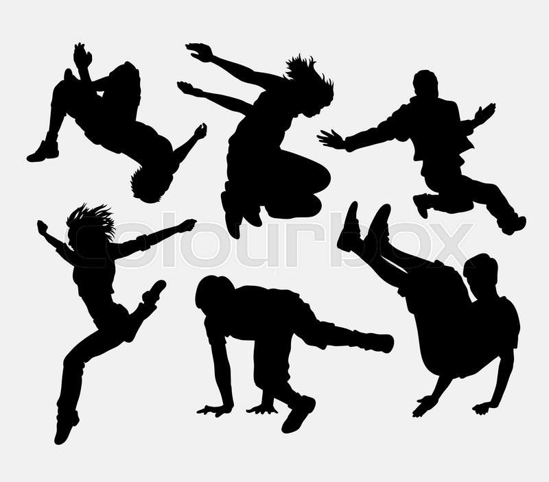 800x703 Parkour, Dancer, Martial Art, Extreme Sport Silhouette. Good Use