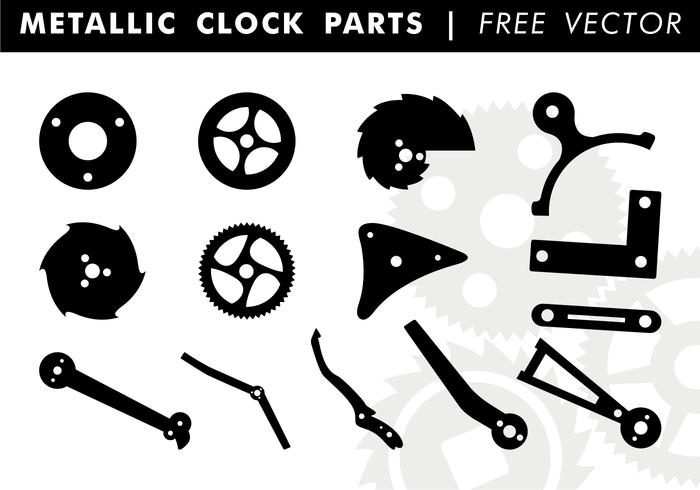 700x490 Metallic Clock Parts Free Vector