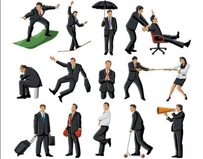 412x324 Free Business People Vector Illustration
