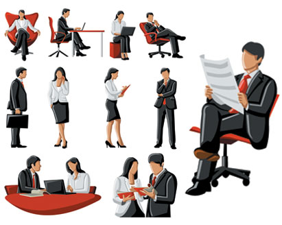 411x328 Free Vector Business People Illustration