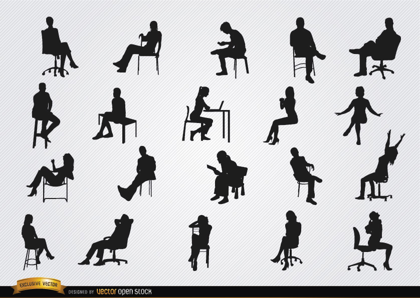 838x596 People Sitting In Chairs Silhouettes