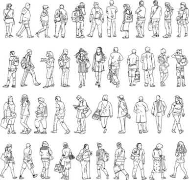 386x368 People Sitting Silhouette Illustrator Free Vector Download
