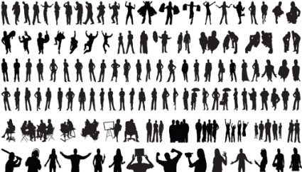 425x243 Set Of People Silhouettes Vector Vector Free Vector Download In