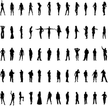376x368 Business People Silhouette Vector Set Free Vector In Encapsulated