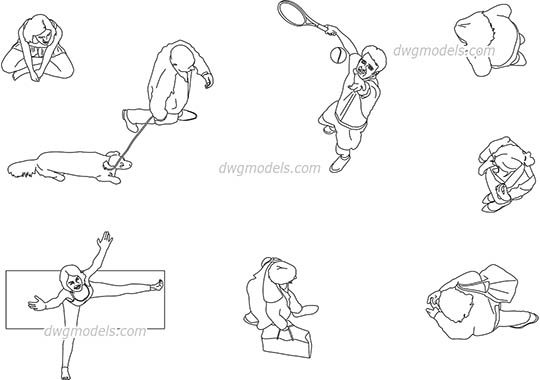 540x380 People Symbol Cad Blocks, Clip Art, Autocad Models Download
