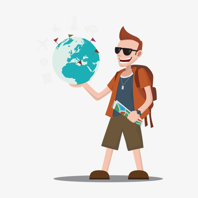 650x650 People Traveling Vector, People Vector, People, Earth Png And