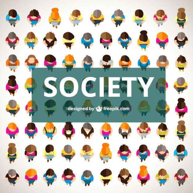 626x626 Society In Top View Vector Free Download