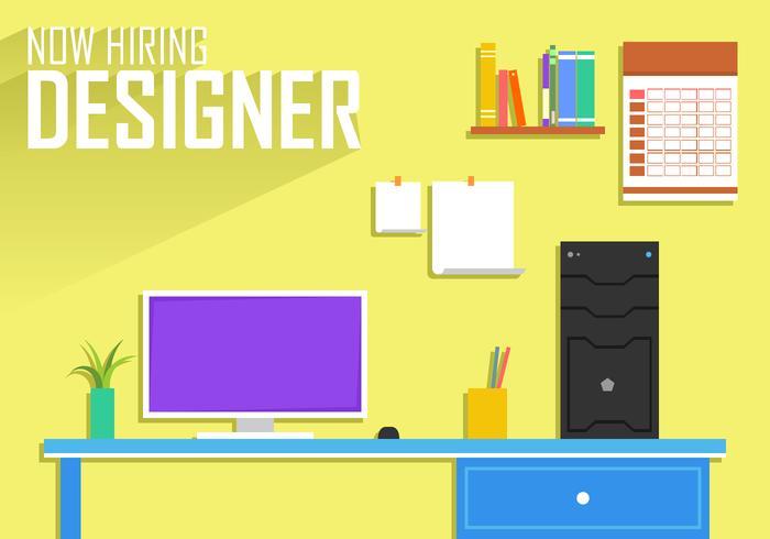 700x490 Now Hiring Designer Poster Template Free Vector