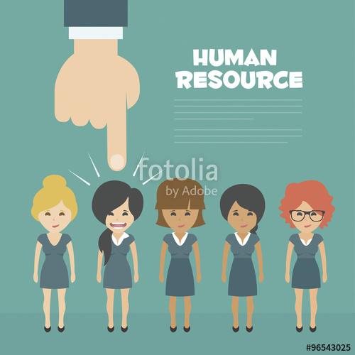 500x500 Vector Recruitment Concept, Human Resources Concept