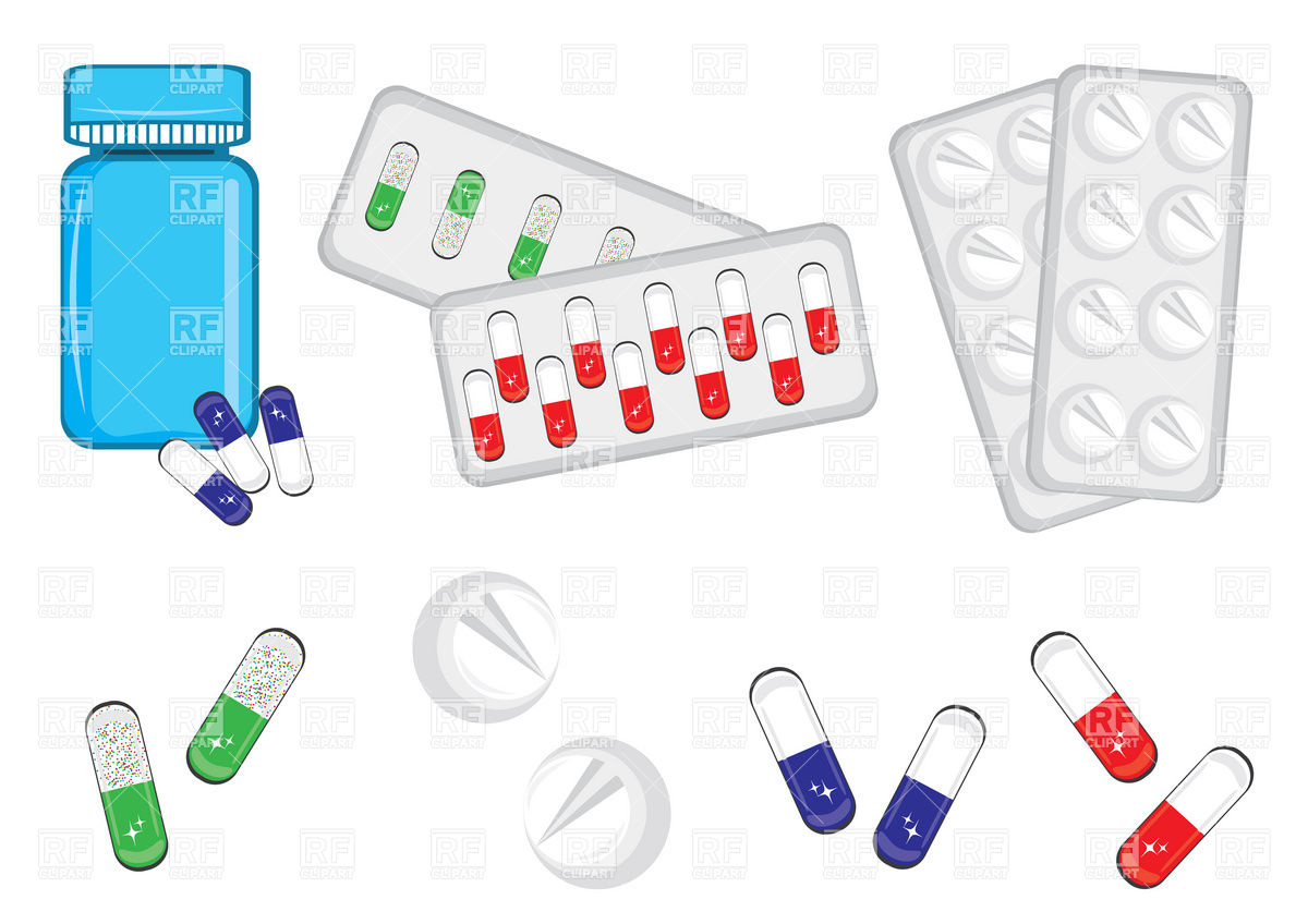 1200x848 Medicine Bottles, Pills And Tablets Vector Image Vector Artwork