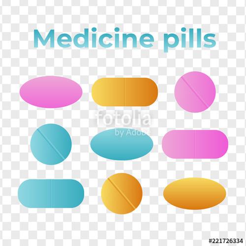 500x500 Medicine Pills. Drugs Vector. Antibiotic And Vitamin Pill