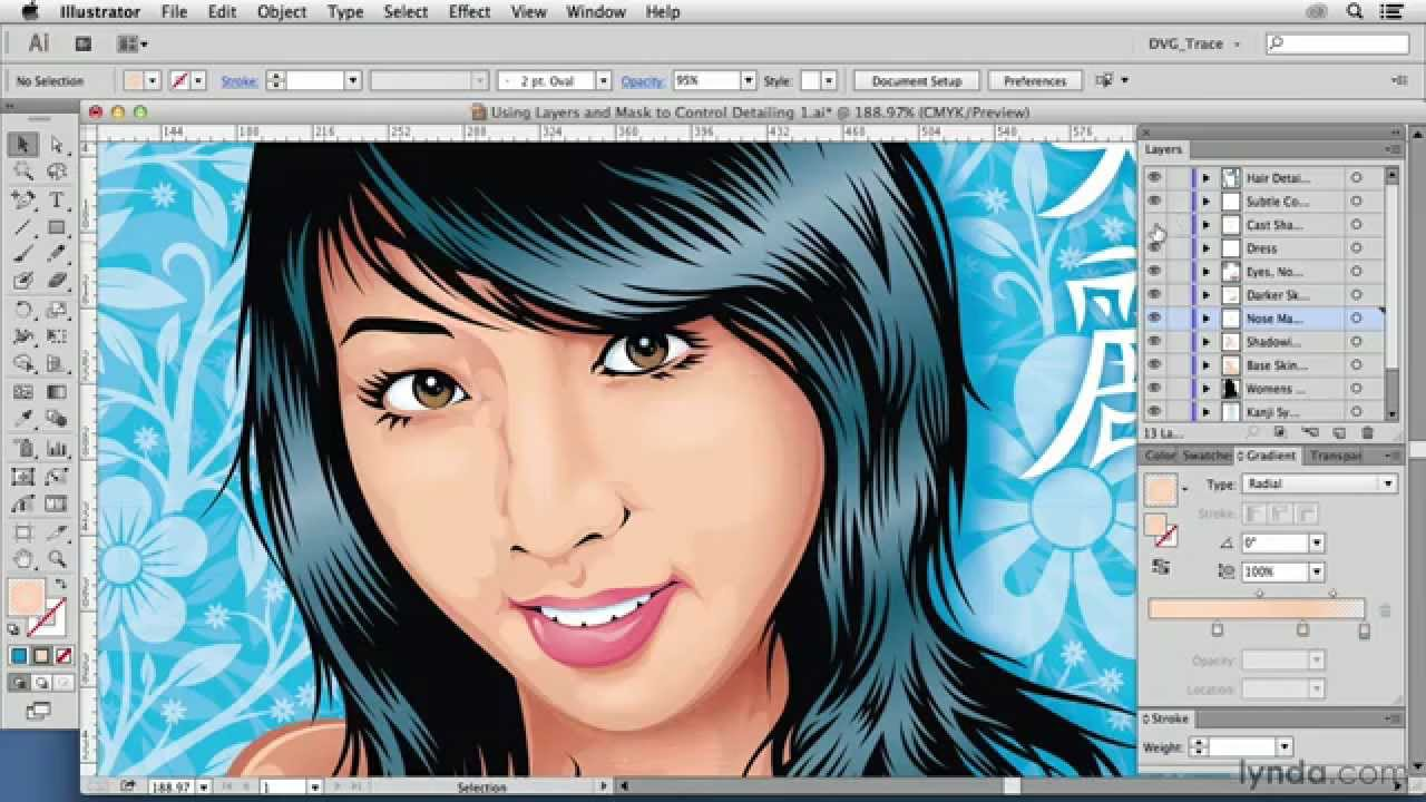 1280x720 Vector Drawing Tutorial Using Layers And Masks To Control