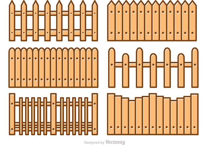 700x490 Picket Fence Cartoon Vectors