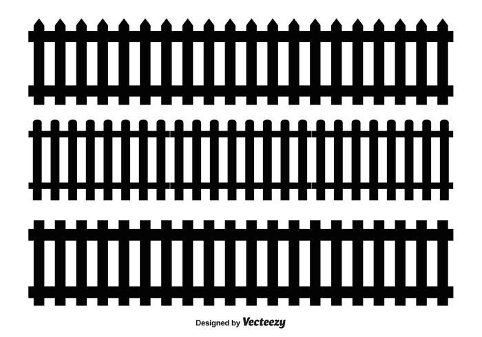 700x490 Picket Fence Vector Shapes